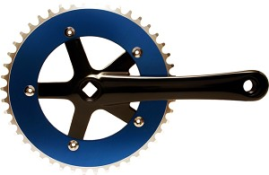 Chainwheel & Crank Set - Blue & Black