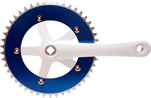 Chainwheel & Crank Set - Blue & White