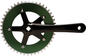 Chainwheel & Crank Set -  Green & Black