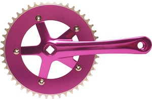 Chainwheel & Crank Set - Purple