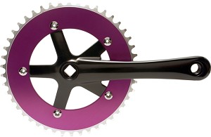 Chainwheel & Crank Set - Purple & Black
