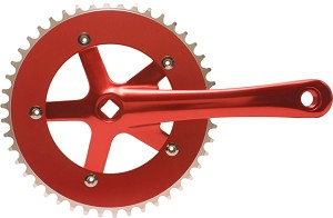 Chainwheel & Crank Set - Red
