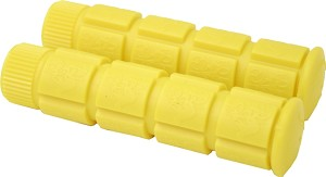 Bicycle Handle Bar Grip 120mm (Yellow)
