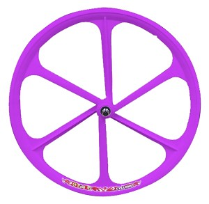 Teny Fixed Gear Front Wheel - Purple
