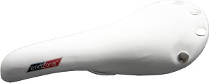 Road Bike Saddle With Rivetes (White)