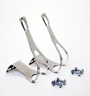 Bicycle Pedal Clips (Chrome)