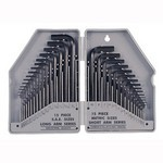 30Pcs CRV Comb.Hex Key H.D.