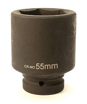 "55mm, 1""Dr CR-MO Air Deep Impact Socket"