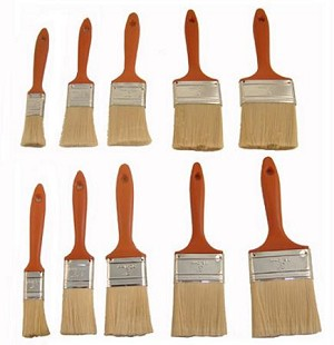 10pc Polyester Paint Brush Assortment