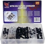240pc Metric Nut, Bolt and Lockwasher Assort
